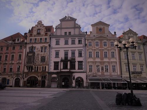 Building facades in Prague, Czech republic