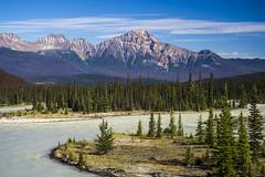 Pyramid Mountain and Athabasca River, Jasper NP, Canada, (explored) (birgitmischewski) Tags: pyramidmountain athabascariver jaspernationalpark jasper