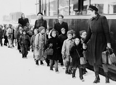 An outing (theirhistory) Tags: children kids boys pupils students girls jacket shorts shoes wellies jumper cap coat boots snow