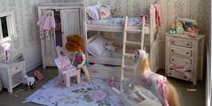 Rosebud's Bedroom (TutuBella) Tags: pukipuki fairyland doll rosebud roombox bedroom shabbychic dollhouse quilts rockinghorse toys tinybjd diy diorama