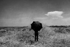 Untitled (marcus.greco) Tags: portrait selfportrait blackandwhite dark umbrellas landscape nature