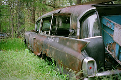 The Last Ride (Robert Jack Images) Tags: cadillac junkyard abandoned carporn cars oldcar hearse caddy film 35mm analog analogue