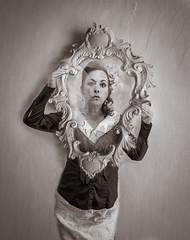 Mirror selfie (devon 6824) Tags: selfie composition aged creative portrait women mirror blackandwhite week54