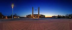 Olympiastadion Berlin (FH   Photography) Tags: berlin olympiastadion hertha panorama pano blauestunde deutschland hauptstadt stadion sport eingang fussball veranstaltung konzert event abends beleuchtet licht platz skyline gebäude architektur wahrzeichen sehenswürdigkeit sonnenuntergang sunset