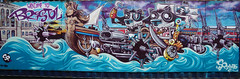 Welcome to Bristol. (JamieHaugh) Tags: bristol england uk gb great britain sony a6000 zeiss alpha ilce6000 graffiti spraycan art welcome street aerosol wall piece colour color west pirates boats sea