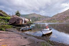 Galicia (franco nadalin) Tags: fabbrica galicia boat clouds hills landscape river rock sea ship sky spain vessel port