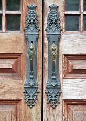 Front Door (KaDeWeGirl) Tags: newyorkcity manhattan greenwich village ottendorfer library door handle freie bibliothek lesehalle landmark nyclpc newyorkcitylandmarkspreservationcommission