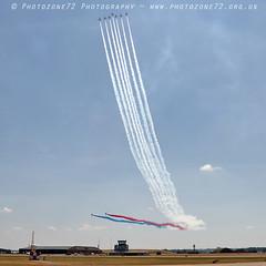 9380 Centenary Split (photozone72) Tags: aviation airshows aircraft airshow canon canon80d canon24105f4l 80d yeovilton yeoviltonairday raf redarrows reds redwhiteblue rafat