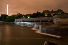City waterfall (gubanov77) Tags: waterfall moscow russia cityscape city night moscowphotography mosfotki outdoor parkpobedy poklonnayahill streetscape street urban longexposure