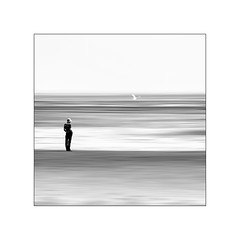 I think of you (ingrid.lowis) Tags: bw schwarz weis wattenmeer monochrom föhr sea strand beach
