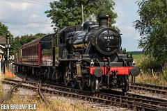 Somerset Ivatt (Ben_Broomfield) Tags: ivatt 260 tender 46447 82h esr east somerset railway suburban coach mk1 steam loco locomotive train steamengine smoke