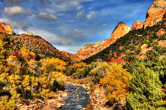 Zion National Park, Utah (klauslang99) Tags: klauslang nature naturalworld northamerica zion national park utah landscape river trees fall autumn mountains