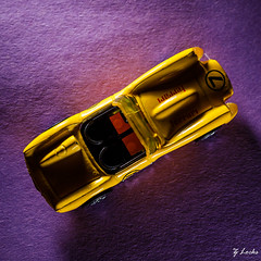 Lucky Number Seven (zachary.locks) Tags: 52frames above car close colors complimentary contrast down external fast ferrari flash from harsh high life light looking matchbox purple race speedlight still top toy up yellow zlocks