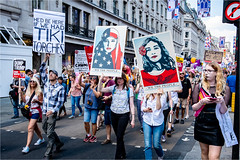 We The People & Tiki Torches (Paul Parkinson LRPS CPAGB (parkylondon)) Tags: 2018 england europe greaterlondon july london march politics protest rally trump unitedkingdom donaldtrump