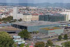 Blick auf die Station Praterstern aus dem Wiener Riesenrad (marcoverch) Tags: 2018 locationindependent reiseblogger reisen vienna digitalnomad travel wien österreich at city stadt cityscape stadtbild architecture diearchitektur reise building gebäude skyline horizont urban städtisch town dorf sky himmel sight sicht house haus modern panorama aerial antenne water wasser roof dach noperson keineperson ship schiff outdoors drausen harbor hafen seaside greece concert florida aircraft dance bay bar storm blickaufdiestation praterstern wienerriesenrad