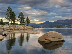 Spicer Reservoir (mikeSF_) Tags: california spicer meadow reservoir spicermeadow lake river water waterfront bank rock granite trees mount mountain alpine lakealpine outdoor pentax645z pentax 645 longexposure