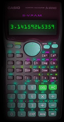 Neon Calculator (Burnt Pineapple Productions) Tags: calculator glow neon math mathematics add subtract multiply numbers code compute computer scientific calculate pi