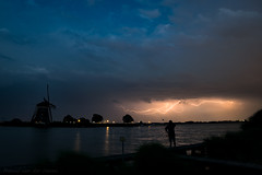 Lightning near Rottemeren (mesocyclone70) Tags: storm thunderstorm lightning silhouette lake water stormclouds electricity