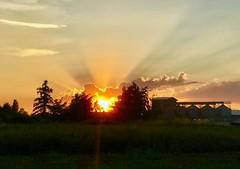 Sonnenuntergang (canon_susi) Tags: abendstimmung wolken wolke iphone gotha sun sky himmel sonnenuntergang sonne