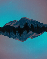 Dreamscapes (Mike Monaghan) Tags: mikemonaghan mountrainier manipulation surreal landscape space astrophotography nature reflection photomanipulation
