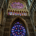 Breathtaking stained glass in Reims Cathedral