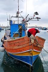 Marsaxlokk (Douguerreotype) Tags: boat luzzu malta fish water