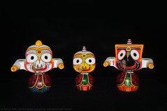 GODS OF A DIFFERENT KIND (GOPAN G. NAIR [ GOPS Photography ]) Tags: gopsorg gopangnair gops gopsphotography gopan photography puri odisha orissa india jagannathan deities balabhadra goddess subhadra lord jagannath
