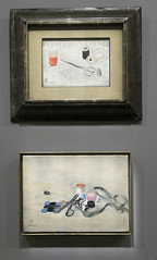 Two sewing-related still life paintings - Foujita (Monceau) Tags: foujita exhibition muséemaillol paris sewingrelated objects scissors thread spools ribbon stilllife naturemorte