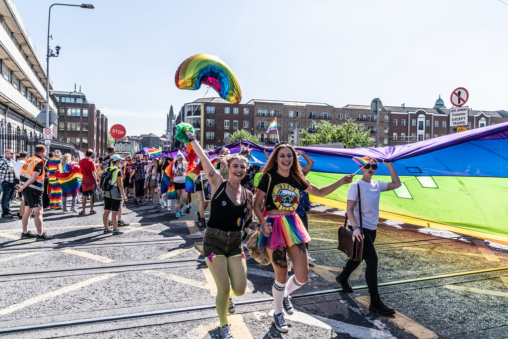 ABOUT SIXTY THOUSAND TOOK PART IN THE DUBLIN LGBTI+ PARADE TODAY[ SATURDAY 30 JUNE 2018] X-100052