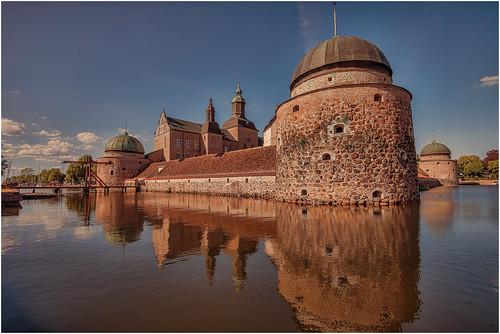 Wasserschloß Vadstena Östergotland Schweden
