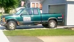 Painter's truck - HTT (Maenette1) Tags: painterstruck green pickup neighborhood menominee uppermichigan happytruckthursday flicker365 allthingsmichigan absolutemichigan projectmichigan