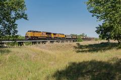 RR-20180702-LimonSub-6 (skyviewtim) Tags: bridge coalload coloradorailroads coloradotrains deertrail up2721 colorado unitedstates us