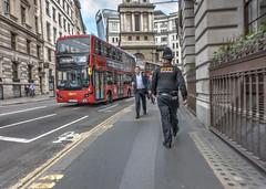 On Patrol (dlsmith) Tags: london city cityoflondon squaremile police policeofficer policeman hdr photomatix england londonbus stphotographia candid