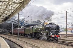 Departure (4486Merlin) Tags: 35018 britishindialine england europe exsr northyorkshire railways srmerchantnavyclass station steam transport unitedkingdom york gbr scarboroughspaexpress wcrc ecml