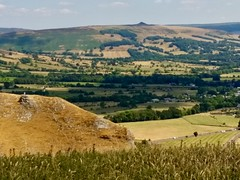 looking over at Win Hill Castleton (lesleydugmore) Tags: field meadow green brown winhill uk britain europe england castleton peakdistrict derbyshire hillside serene rural outside outdoors nationalpark darkpeak