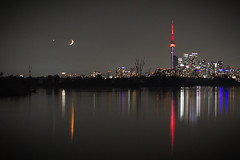 View of Toronto on July 15, 2018 (A Great Capture) Tags: rebel t5i city downtown lights urban skyline towers tower buildings urbannature cityscape urbanscape eos digital dslr lens canon waterscape wet water agua eau reflection mirror glass reflections outdoor outdoors outside vibrant colorful cheerful vivid bright park parc moon night darkness nocturnal dark illuminate lighting nighttime