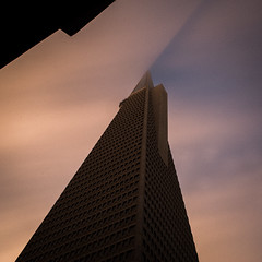 A Slice in Time (marq4porsche) Tags: san francisco california united states transamerica building architecture weather shadow sunset light sun orange blue contrast fog cloud clouds foggy sf urban city canon eos 6d ef 35mm f14 lens