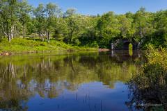 Reflections - Old Stone Bridge (John H Bowman) Tags: westvirginia tuckercounty parks stateparks westvirginiastateparks blackwaterfallsstatepark lakesandponds reflections stonework stonebridges may2018 may 2018 canon24704l