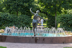 Fountain with a statue of a naked woman in Gorky Park