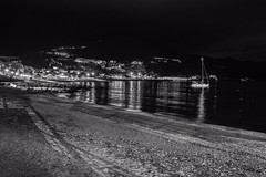 Monochromatic night view (Mario Ottaviani Photography) Tags: sony sonyalpha italy italia paesaggio landscape travel adventure nature scenic exploration view vista breathtaking tranquil tranquility serene serenity calm marioottaviani viaggio avventura natura esplorazione mario ottaviani arenzano liguria mare sea black white blackandwhite monochrome biancoenero monochromatic night notturna monocromatica