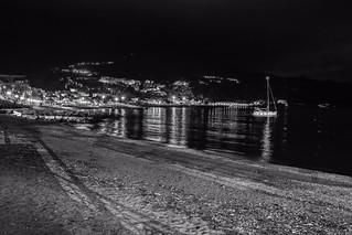 Monochromatic night view