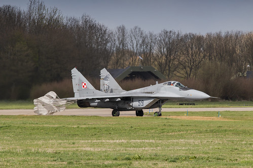 PAF MIG-29 with it's dragchute deployed leaving the runway after landing