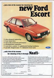 NAAFI Ford Advertisement, Soldier Magazine November 1980
