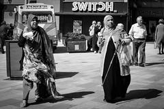 2018_109 (Chilanga Cement) Tags: fuji fujix100f xseries x100f 100f bw blackandwhite monochrome street streetphotography preston prestonstreetphotography icecream lady ladies women