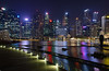 Singapore by night (dichiaras) Tags: singapore asia equator architecture skyscraper marinabay marinabaysands night nikon cityscape