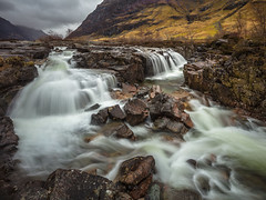 False Sense Of Tranquility (Visible Landscape) Tags: scotland highlands glencoe river waterfall motion mountains visiblelandscape