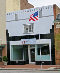 Strings of Music, Tarboro, NC (Robby Virus) Tags: tarboro northcarolina nc strings music store business retail closed vacant gone american flag