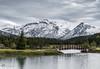 Snow In Mountains (Paul Berkloo) Tags: improvementdistrictno9 alberta canada ca snow mountain mountains mountainside banff water bridge