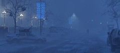 (HodgeDogs) Tags: thedivision ubisoft snowdropengine snowfall snow road cars