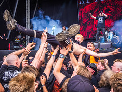 SurfingHellGates (Stefan Kruse) Tags: surfing copenhell rocknroll heavymetal crowd concert crowdsurfing atthegates olympus panasonic music metal
